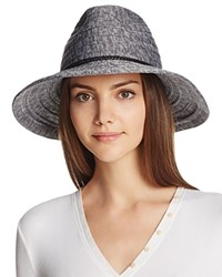 August Accessories All Around Marled Knit Fedora Gray