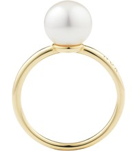 Noa Fine Jewellery Perla 18Ct Gold And Pearl Ring White On Yellow