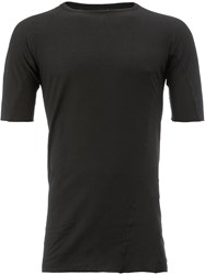Masnada Classic Fitted T Shirt Men Cotton 46 Black