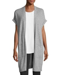 Vince Cashmere Short Sleeve Long Vest Gray