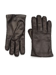 Portolano Cashmere Lined Leather Gloves Black