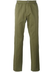 Roberto Cavalli Side Stripe Sports Pants Green