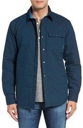 Mountain Hardwear Men's 'Yuba Pass' Fleece Lined Quilted Shirt Jacket Phoenix Blue