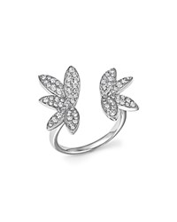 Bloomingdale's Diamond Open Leaf Ring In 14K White Gold .60 Ct. T.W.