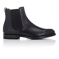 Franceschetti Men's Leather Chelsea Boots Black Blue Black Blue