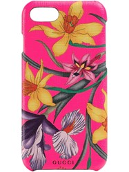 Gucci Floral Print Iphone 8 Case Pink