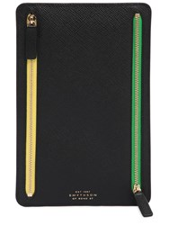 Smythson Panama Leather Zip Currency Pouch