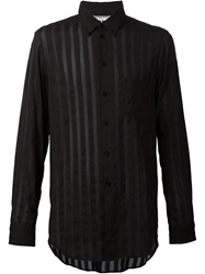 Uma Wang Sheer Stripe Shirt Black