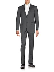 Hart Schaffner Marx Regular Fit Wool Suit Grey Stripe