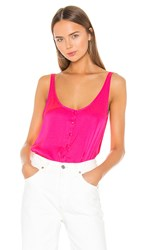 7 For All Mankind Button Up Tank In Pink. Paradise Pink