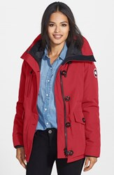 Women's Canada Goose 'Rideau' Slim Fit Down Parka Red