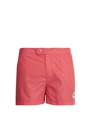 Robinson Les Bains Ucla Geometric Print Swim Shorts Red