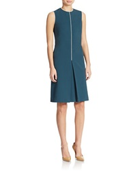 Anne Klein Piping Detail Shift Dress Mallard