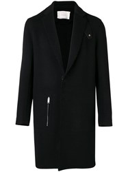 Alyx Side Zip Fitted Coat Black