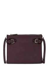 Sondra Roberts Distressed Nappa Crossbody Purple