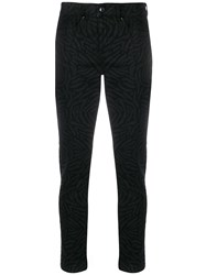 Escada Sport Printed Mid Rise Cropped Jeans 60