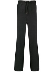 Les Hommes Straight Leg Track Trousers Grey