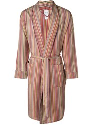Paul Smith Striped Robe Red