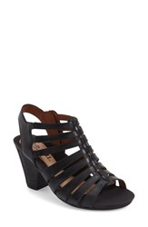 Women's Cobb Hill 'Taylor' Caged Sandal Black Leather
