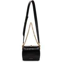 Alexander Mcqueen Black Croc Box Bag 19 Bag