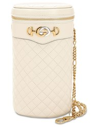 Gucci Quilted Leather Belt Bag Mystic White