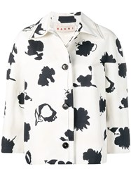 Marni Floral Cropped Jacket White