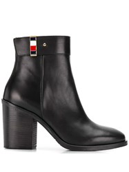 Tommy Hilfiger Leather Ankle Boots Black