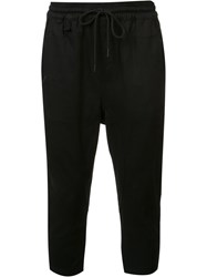 Publish Cropped Casual Trousers Black