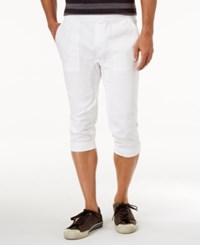 American Rag Men's Cropped Joggers Only At Macy's Bright White