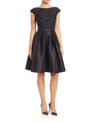 Pamella Pamella Roland Beaded Mikado Party Dress Black