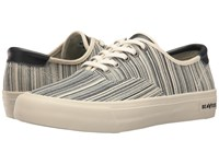 Seavees 06 64 Legend Sneaker Clipper Class Engineer Stripe Men's Lace Up Casual Shoes Gray