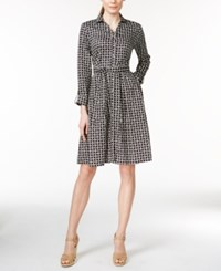 Charter Club Printed Belted Shirtdress Iconic Print