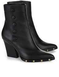 Sonia Rykiel Black Leather Studded Heel Boots