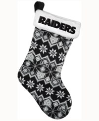 Forever Collectibles Oakland Raiders Ugly Sweater Knit Team Stocking Black