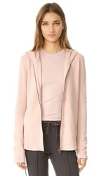 Atm Anthony Thomas Melillo Zip Front Hoodie Blush