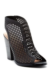 Restricted Wildcard Perforated Sandal Black