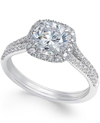 Macy's Certified Diamond Halo Engagement Ring 1 7 8 Ct. T.W. In 18K White Gold No Color