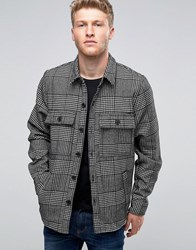 Another Influence Checked Chest Pocket Shirt Black