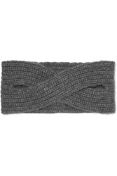 Madeleine Thompson Victoria Ribbed Cashmere Headband Anthracite
