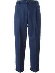 Blugirl Cropped Tailored Trousers Blue