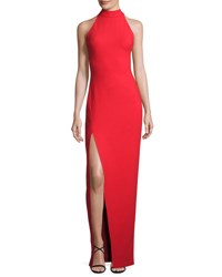 Cinq A Sept Nahlia High Neck Gown Venetian Red
