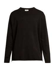 Acne Studios Micha Crew Neck Wool Sweater Black