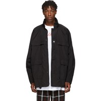 Balenciaga Black Light Nylon Windbreaker Coat