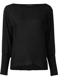 Haney 'Benton' Dolman Sleeved Blouse Black