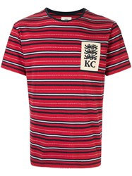 Kent And Curwen Haim Lions Patch T Shirt Red