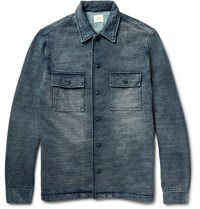 Faherty Indigo Dyed Cotton Jacket Blue