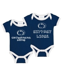 Atlanta Hosiery Company Babies' Penn State Nittany Lions 2 Pack Contrast Bodysuit Set