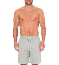 Versace Gym Stretch Cotton Shorts Grey Melange