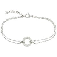 London Road 9Ct White Gold Diamond Circle Charm Meridian Bracelet