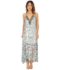 Hale Bob Sheer Obsession Maxi Dress Mint Women's Dress Green